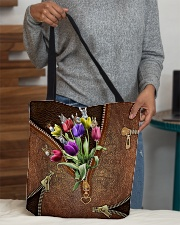 Tulips and donkey All-over Tote aos-all-over-tote-lifestyle-front-10