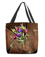 Tulips and donkey All-over Tote back