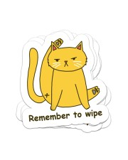 Remember to wipe Sticker - 4 pack (Vertical) front