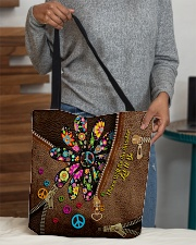 There Will Be An Answer Leather Pattern Print All-over Tote aos-all-over-tote-lifestyle-front-10