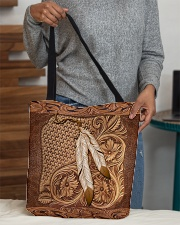 Native American India feather All-over Tote aos-all-over-tote-lifestyle-front-10