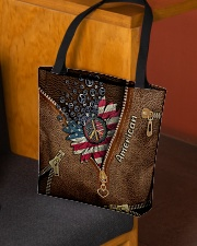 Patriotic Leather Pattern Print All-over Tote aos-all-over-tote-lifestyle-front-02
