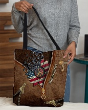 Patriotic Leather Pattern Print All-over Tote aos-all-over-tote-lifestyle-front-10
