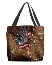 Patriotic Leather Pattern Print All-over Tote front