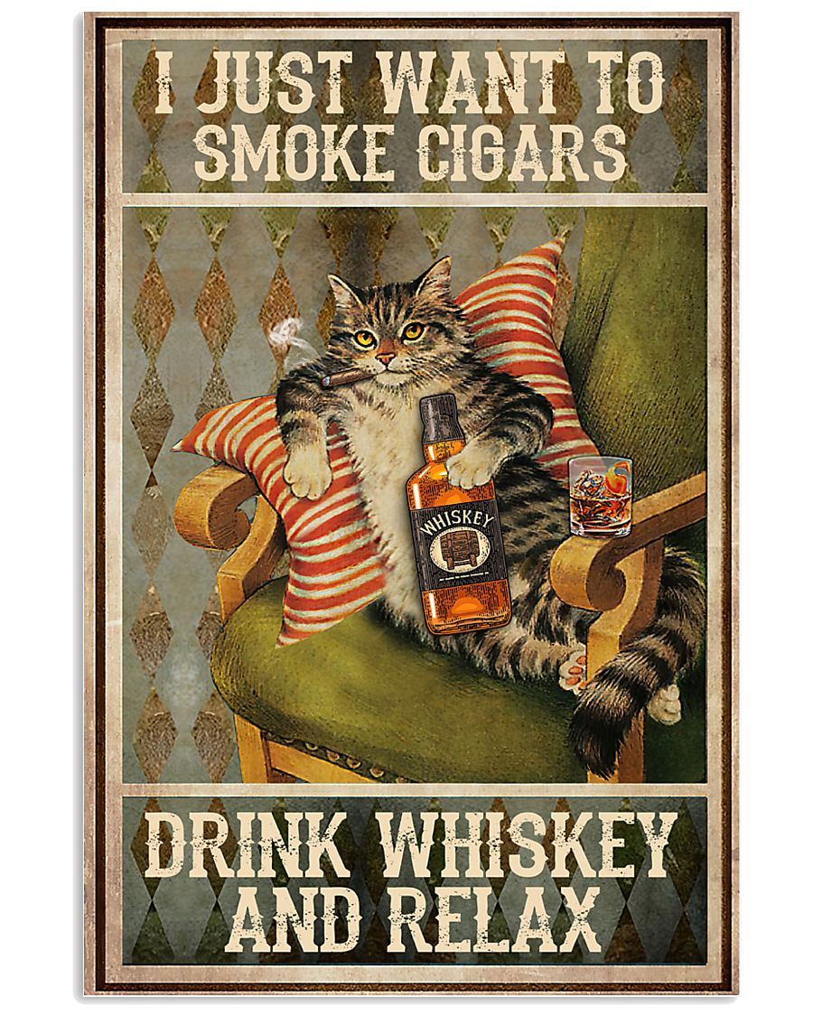 I just want to smoke cigars 11x17 Poster