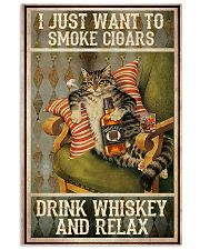 I just want to smoke cigars 11x17 Poster front