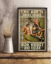 I just want to smoke cigars 11x17 Poster lifestyle-poster-3