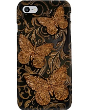 Butterfly Faux wood print Phone Case i-phone-8-case