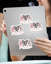 Peace love cure Sticker - 4 pack (Vertical) aos-sticker-4-pack-vertical-lifestyle-front-11