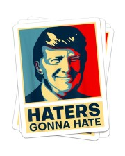 Haters Gonna Hate Sticker - 4 pack (Vertical) front