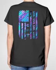 Live Love Save Lives Ladies T-Shirt garment-tshirt-ladies-back-01