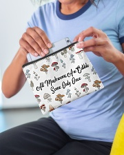 All mushrooms are edible Accessory Pouch - Standard aos-accessory-pouch-8-5x6-lifestyle-front-07