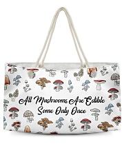 All mushrooms are edible Weekender Tote tile