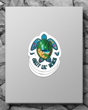 Salty lil' beach Sticker - 4 pack (Vertical) aos-sticker-4-pack-vertical-lifestyle-front-09