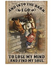 And Into The Barn I Go 11x17 Poster front