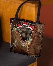 All Of The Otter Reindeer Leather Pattern Print All-over Tote aos-all-over-tote-lifestyle-front-02
