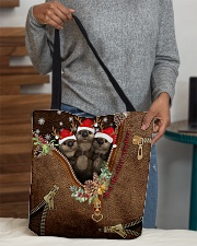 All Of The Otter Reindeer Leather Pattern Print All-over Tote aos-all-over-tote-lifestyle-front-10