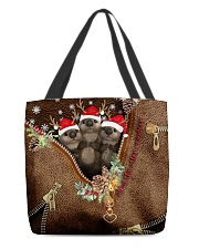 All Of The Otter Reindeer Leather Pattern Print All-over Tote front