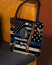Back the blue sunflower All-over Tote aos-all-over-tote-lifestyle-front-02