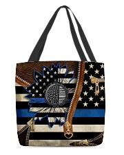 Back the blue sunflower All-over Tote back