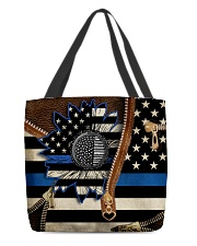 Back the blue sunflower All-over Tote front