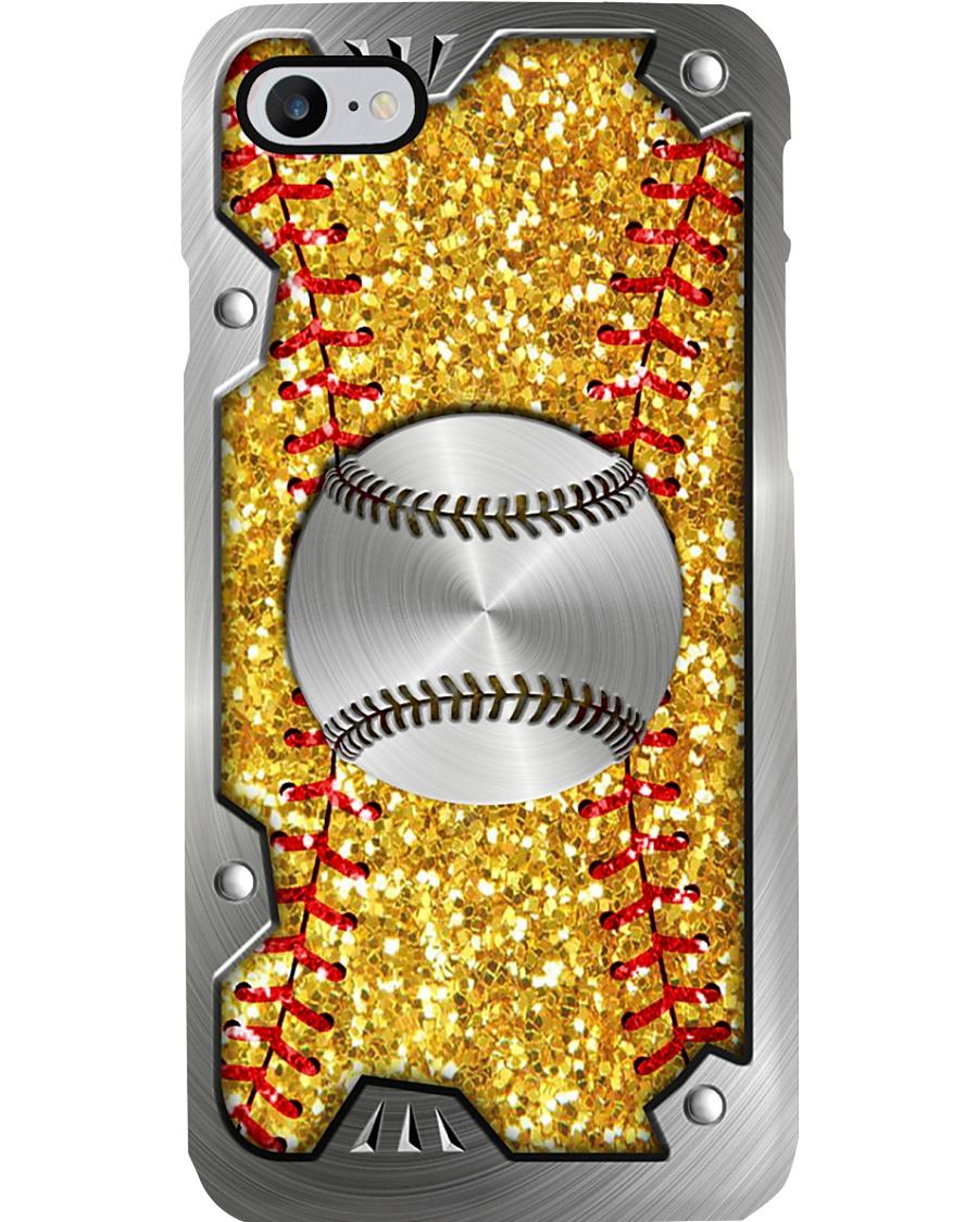 Softball Sequin pattern print Phone Case