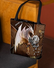 Never Give Up Leather Pattern Print  All-over Tote aos-all-over-tote-lifestyle-front-02