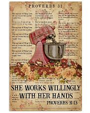 She works willingly 11x17 Poster front