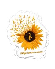 Sunflower sticker Sticker - 4 pack (Vertical) front