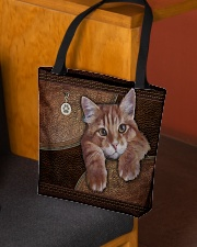 Cat Lovers Leather Pattern Print All-over Tote aos-all-over-tote-lifestyle-front-02