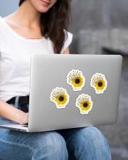 Sunflower sticker  Sticker - 4 pack (Vertical) aos-sticker-4-pack-vertical-lifestyle-front-15