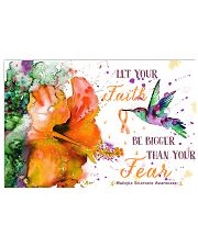 Let your faith bigger than your fear 17x11 Poster front