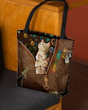 Hippie Soul Leather Pattern Print All-over Tote aos-all-over-tote-lifestyle-front-02