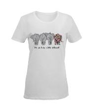 IT'S OK TO BE A LITTLE DIFFERENT Ladies T-Shirt women-premium-crewneck-shirt-front