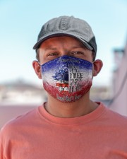 Home of the fre  because of the brave  4th of july Cloth face mask aos-face-mask-lifestyle-06