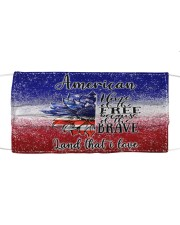 Home of the fre  because of the brave  4th of july Cloth face mask front