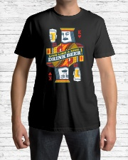 DRINK BEER Classic T-Shirt lifestyle-mens-crewneck-front-1