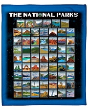 "BLK - 62 National parks US  Fleece Blanket - 50"" x 60"" front"
