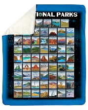 BLK - 62 National parks US  Sherpa Fleece Blanket tile