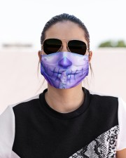 SUGAR SKULL GIRL 4 Cloth face mask aos-face-mask-lifestyle-02
