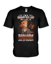 LEVEL OF STUPIDITY V-Neck T-Shirt thumbnail