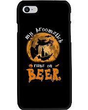 MY BROOMSTICK RUNS ON BEER Phone Case tile