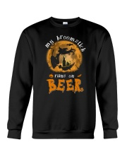MY BROOMSTICK RUNS ON BEER Crewneck Sweatshirt thumbnail