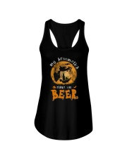 MY BROOMSTICK RUNS ON BEER Ladies Flowy Tank thumbnail