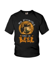 MY BROOMSTICK RUNS ON BEER Youth T-Shirt thumbnail