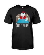BLUE LET IT SNOW SWEATER Classic T-Shirt thumbnail
