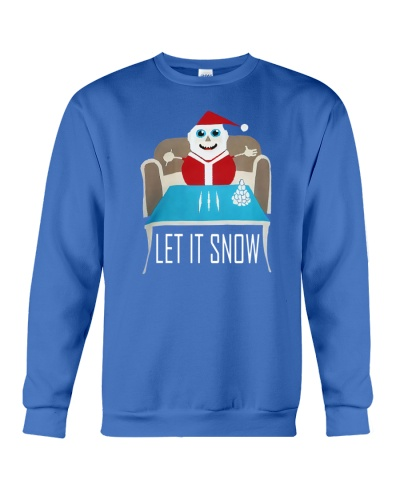BLUE LET IT SNOW SWEATER