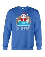 BLUE LET IT SNOW SWEATER Crewneck Sweatshirt front