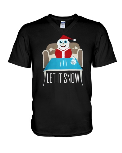 BLUE LET IT SNOW SWEATER