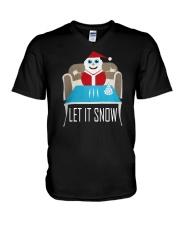BLUE LET IT SNOW SWEATER V-Neck T-Shirt thumbnail